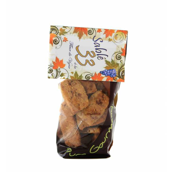 sablé à la fleur de Vigne : biscuit pur beurre à la noisette du Médoc, spécialité de la région de Bordeaux