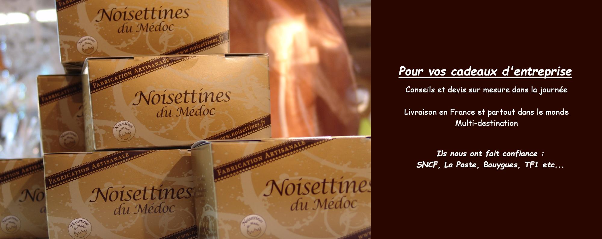vos cadeaux d'entreprise avec les Noisettines du Médoc